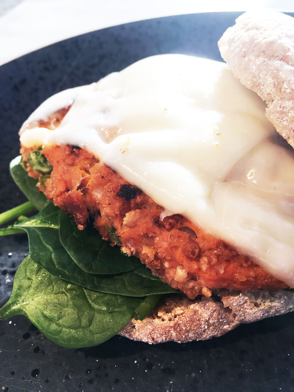 Sweet Potato Tuna Burger