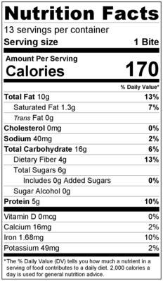 Everyday Energy Bites Label